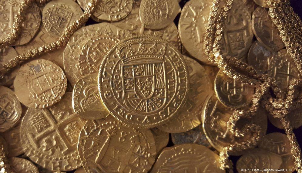 Foto: Restos del tesoro del barco español (REUTERS)