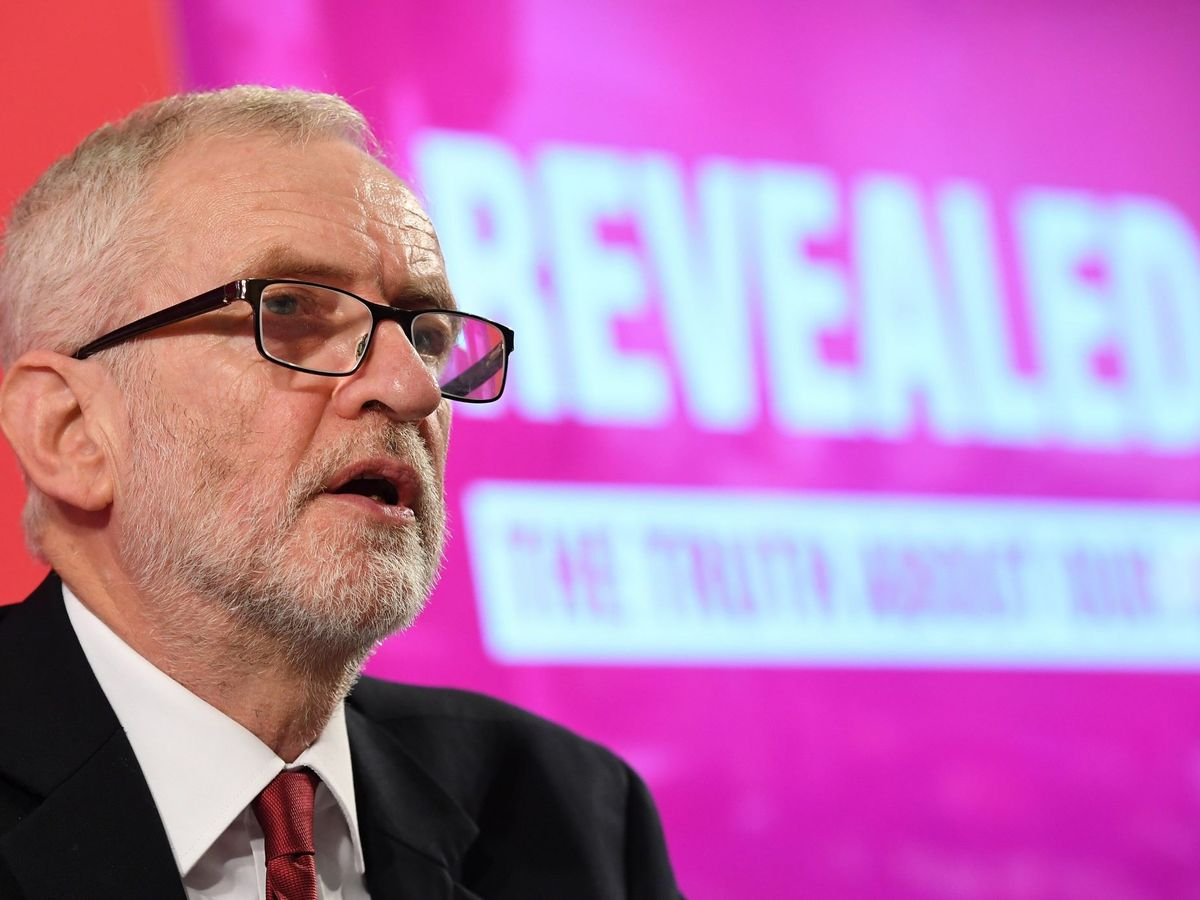 Foto: Labour party leader jeremy corbyn delivers a speech on the nhs