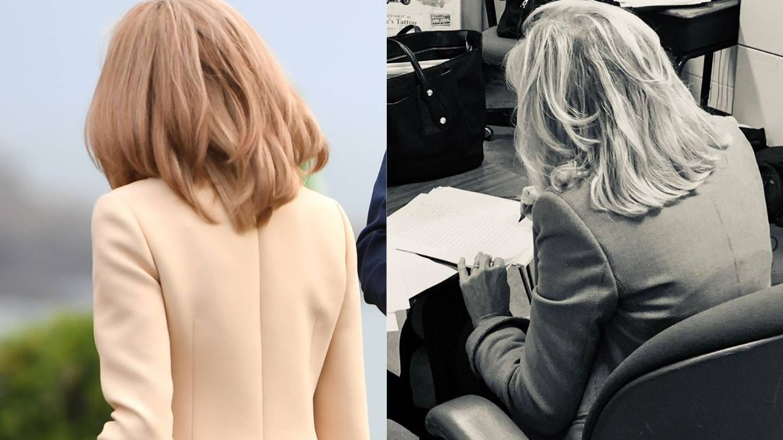 Brigitte Macron vs. Jill Biden. (Getty / Instagram @drbiden)