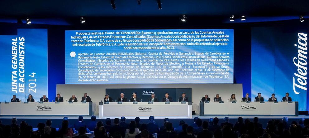 Foto: Junta de accionistas de Telefónica del pasado mayo. (Efe)