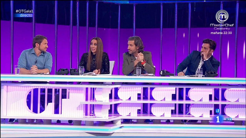 El panel de jueces de la gala 1 de 'OT 2017'. (RTVE)
