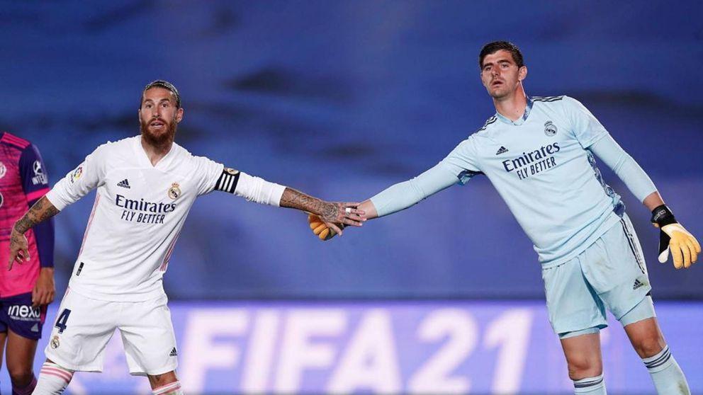 Courtois, el mejor ayer, se la suelta a Zidane: Igual nos falta ritmo de balón