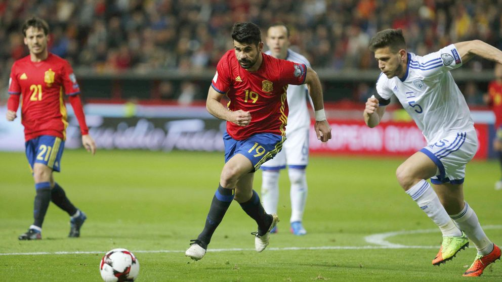 Diego Costa y el balón fácil cuando se quita el traje del Atlético