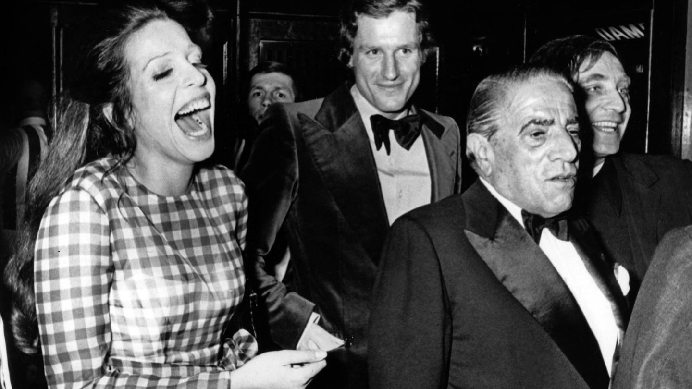 Christina junto a su padre, Aristóteles Onassis. (Cordon Press)