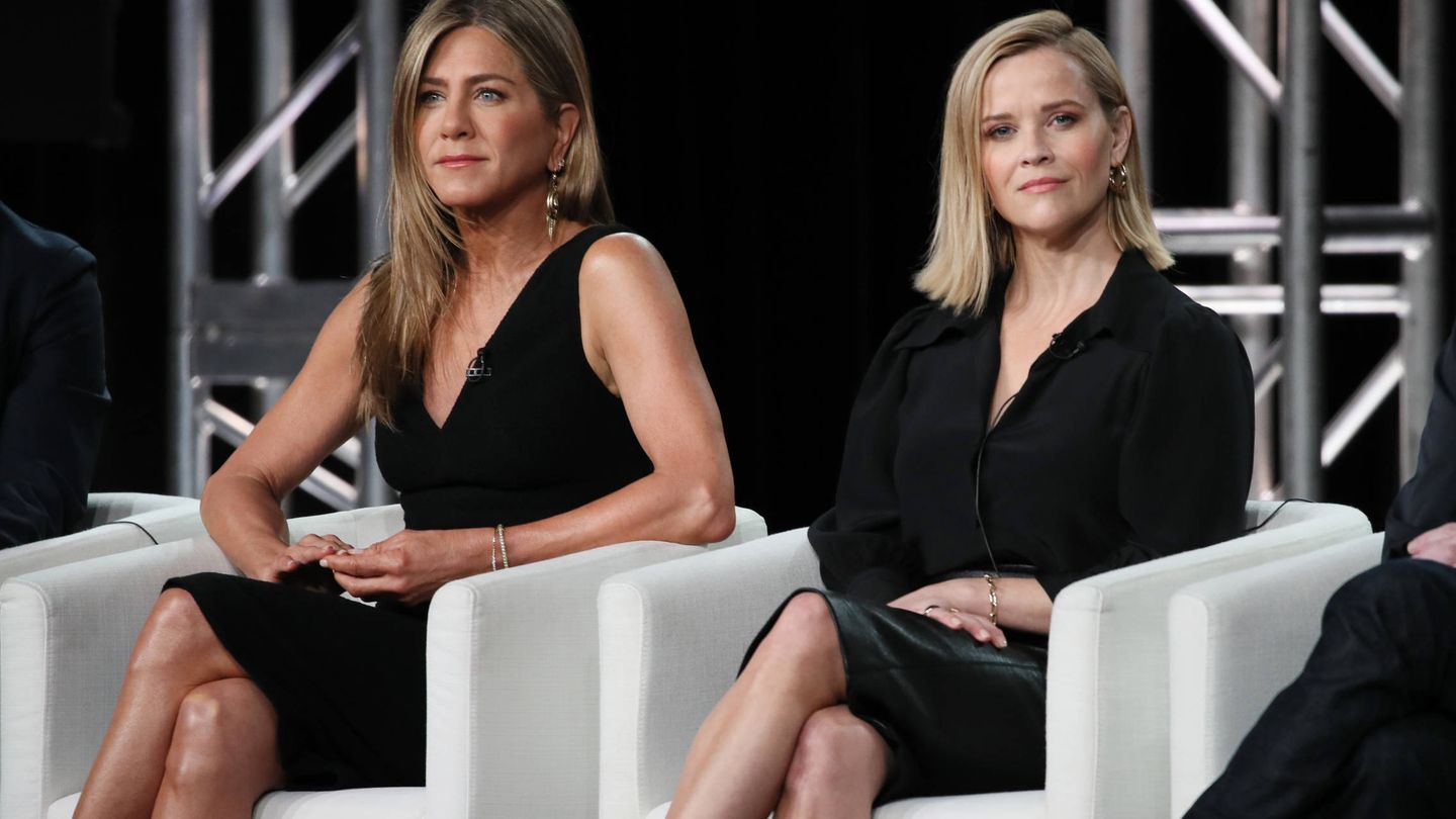 Jennifer Aniston y Reese Witherspoon. (Getty)