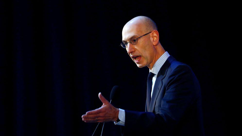 Foto: Adam Silver, comisionado de la NBA (Thomas Peter/Reuters)