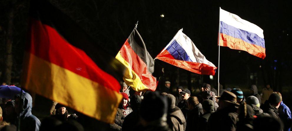 Foto: Manifestación del grupo antiinmigración Pegida en Dresde (Reuters)