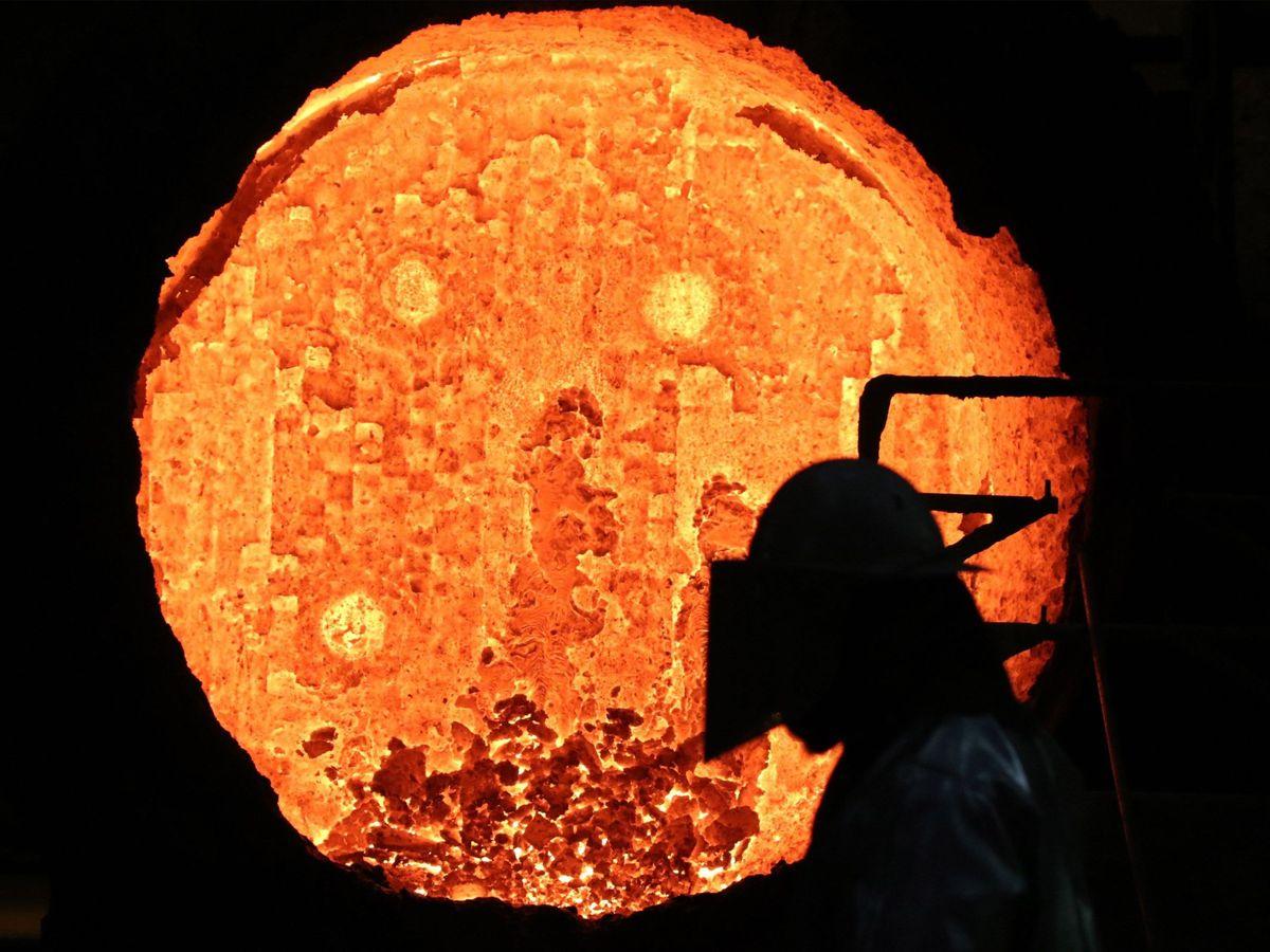 Foto: Imagen de una fábrica siderúrgica. (EFE)