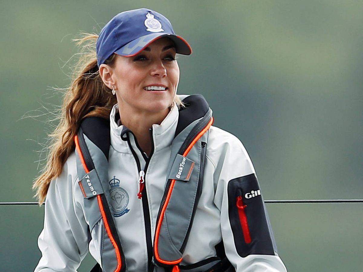 Foto: Kate Middleton, en la regata de la King's Cup. (Getty)
