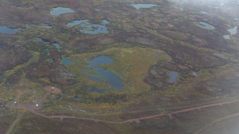 Paisaje de la tundra tras la retirada del hielo (REUTERS)