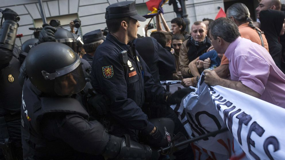 Limitaciones para poder manifestarse frente al Congreso de los Diputados