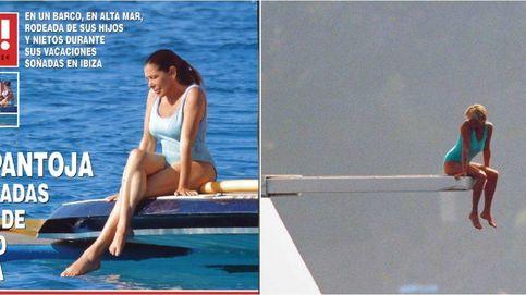Isabel Pantoja se marca un 'Lady Di' con su foto en bañador