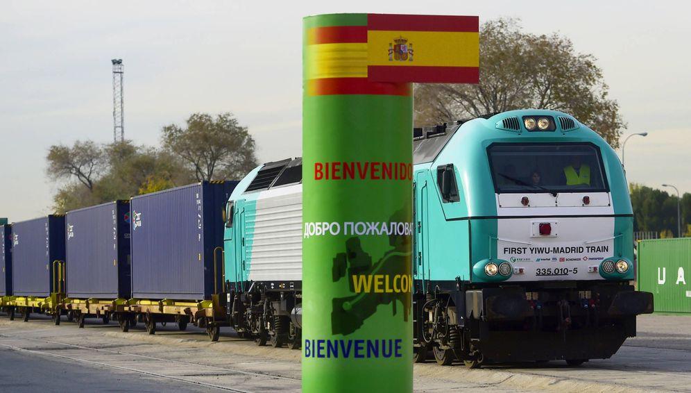 Foto: El tren más largo del mundo parte de Madrid y llega a Yiwu (China) en 21 días.