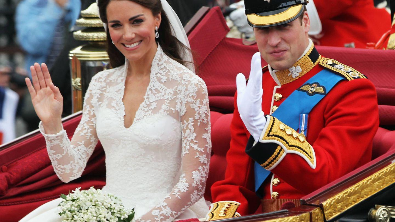 El príncipe Guillermo y Kate Middleton, el día de su boda. (Getty)