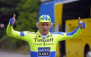 Contador y su equipo se lucen ante Oleg Tinkov, su excéntrico mánager