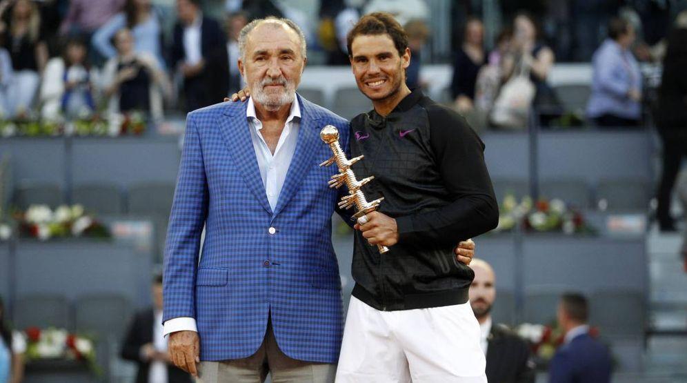 Foto: El magnate y extenista Ion Tiriac con Rafa Nadal. (EFE)