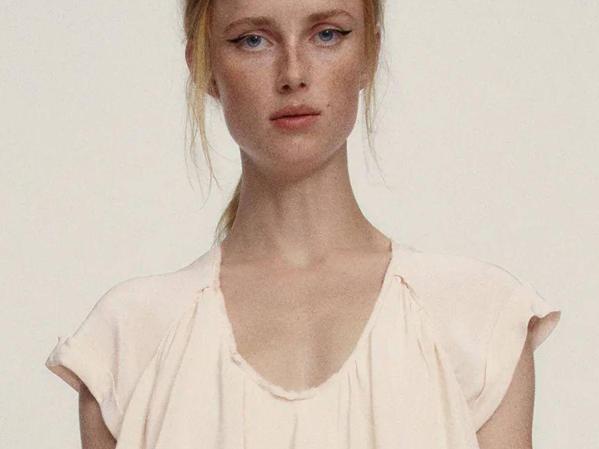 Foto: Descubre las novedades de Zara, como este vestido de tendencia. (Cortesía)