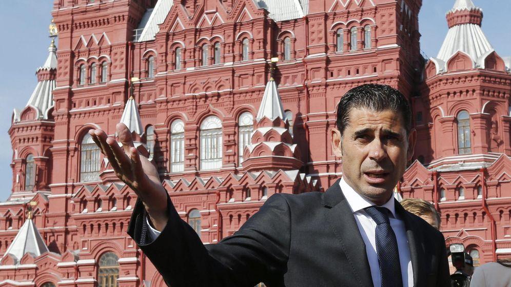 Foto: Fernando Hierro, en una imagen reciente en Moscú. (EFE)