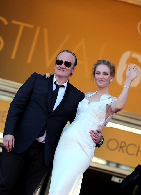 Foto: Uma Thurman y Tarantino en el Festival de Cannes el pasado mes de mayo (Gtres)