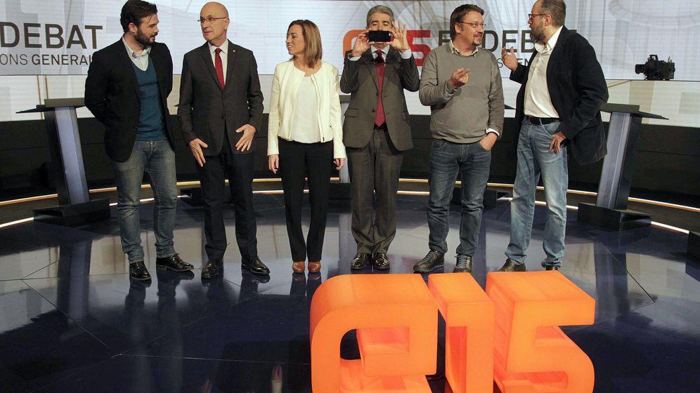 Foto: Debate en TV3 de los candidatos por Barcelona a las elecciones generales. (EFE)