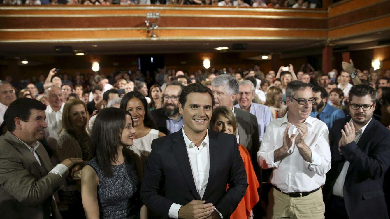 Foto: Rivera, en Madrid, presentando su candidatura a la presidencia del Gobierno. (EFE)