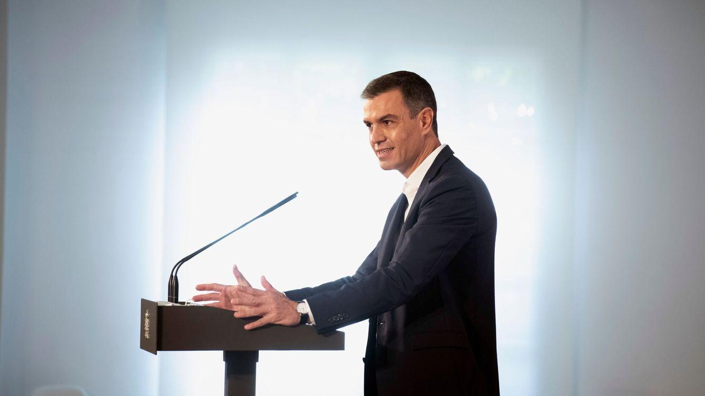 Foto: El presidente del Gobierno, Pedro Sánchez, durante un acto de Moncloa. (EFE)