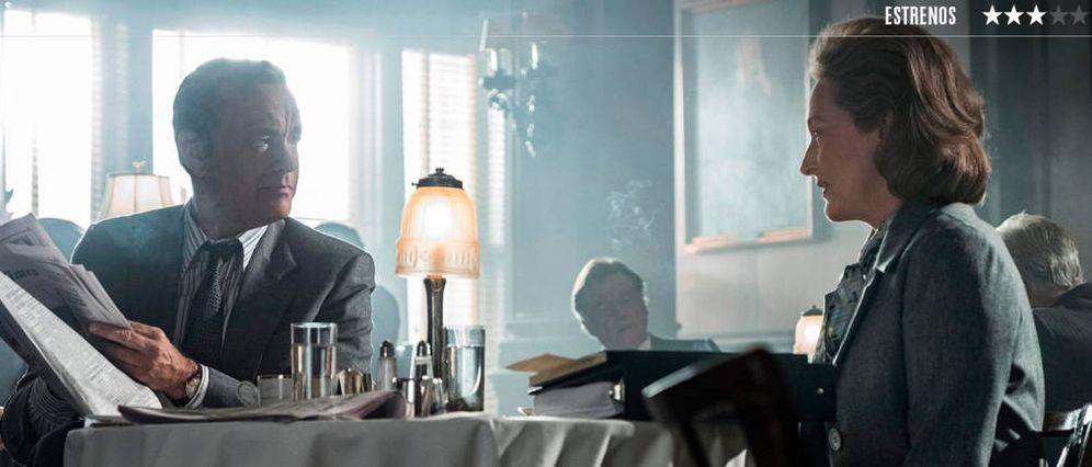 Foto: Tom Hanks y Meryl Streep protagonizan la última película de Spielberg. (E One)