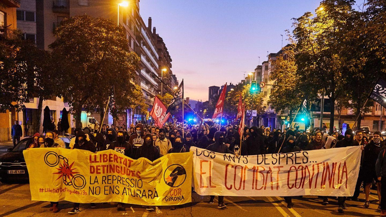 Manifestación en Girona. (EFE)