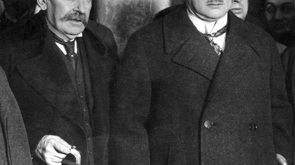 Foto: Aristide Briand y Gustav Stresemann. (Archivo)
