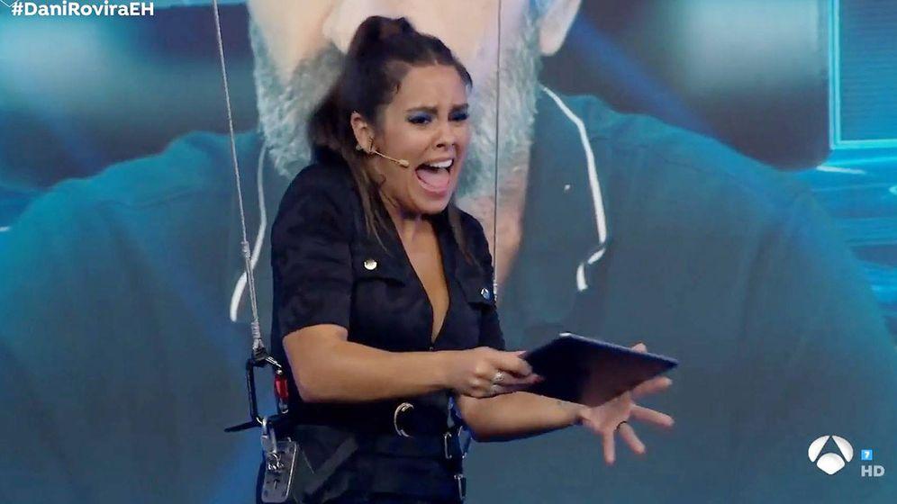 Foto: Cristina Pedroche reaccionando a un susto. (Atresmedia Televisión)