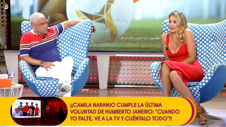 Jorge Javier Vázquez y Alba Carrillo, en 'Sálvame'. (Mediaset)