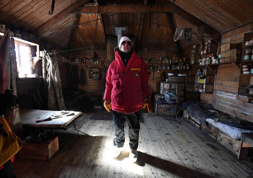 Foto: El ex secretario de Estado de EEUU, John Kerry, durante una visita al refugio de Shackleton, en la Antártida. (Reuters)