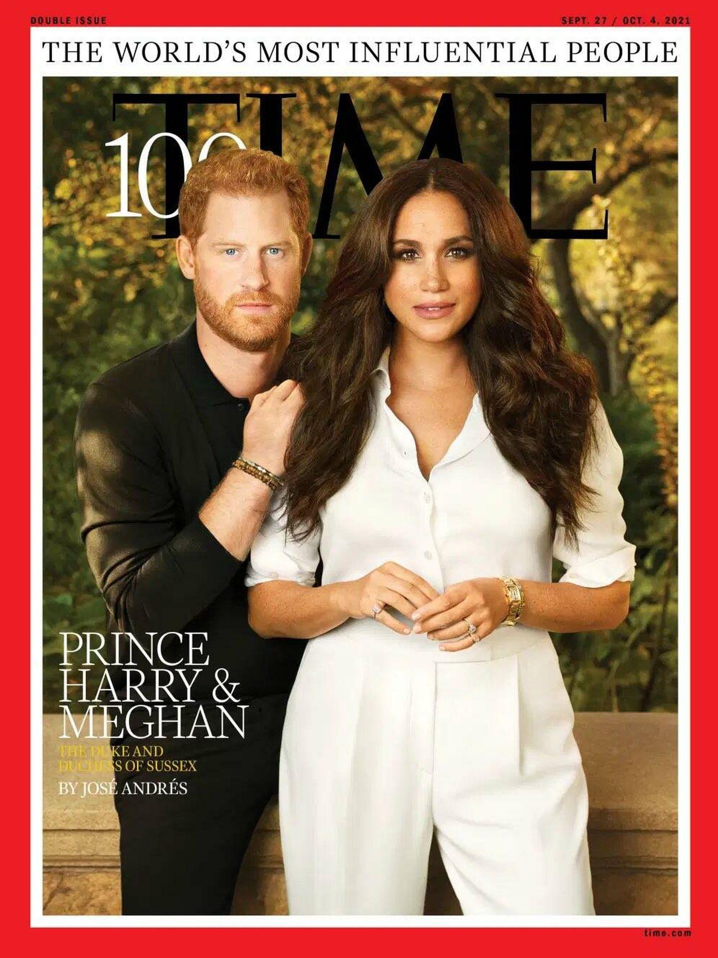 Harry y Meghan, en la portada de 'Time'.
