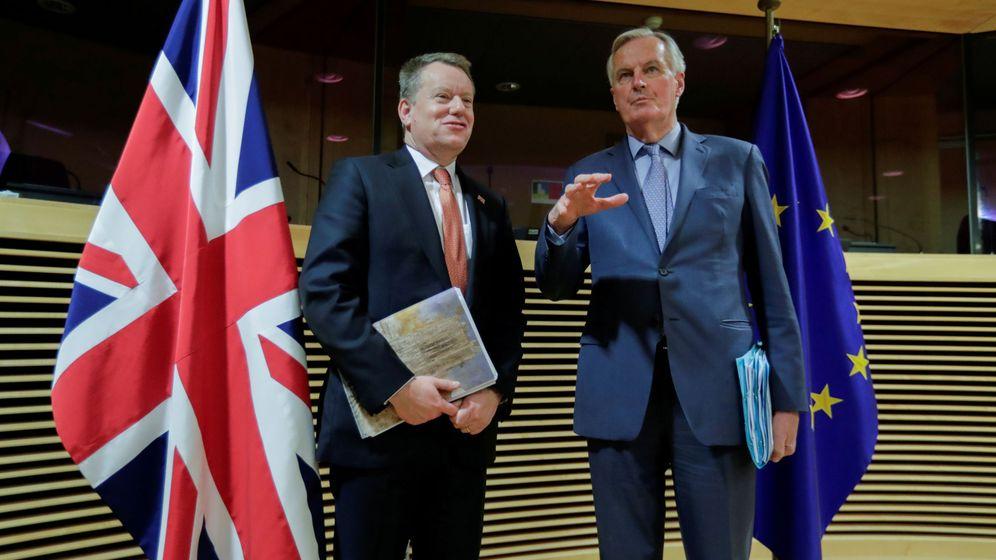 Foto: Michel Barnier y David Frost. (Reuters)
