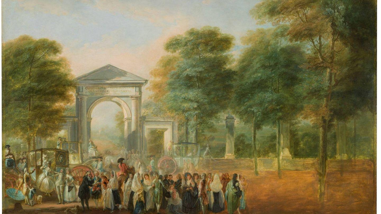'El Jardín Botánico desde el Paseo del Prado', Luis Paret y Alcázar, 1790. (Museo del Prado)