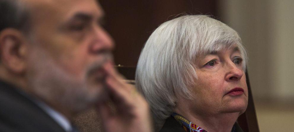 Foto: El expresidente de la Fed, Ben Bernanke, y la actual presidenta, Janet Yellen