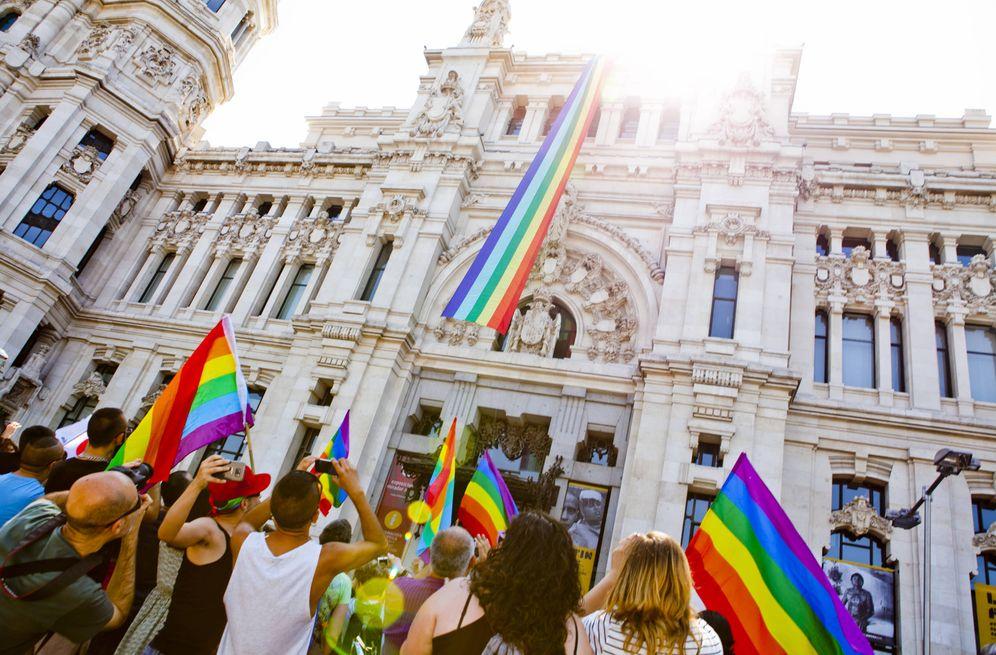 Foto: Bandera arcoíris en el Ayuntamiento de Madrid | Foto: Madrid Orgullo