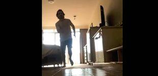 Post de Un runner se hace una maratón confinado en su habitación de hotel