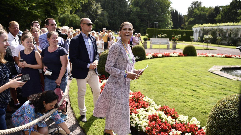 La princesa Victoria, la semana pasada en Solliden el día de su cumpleaños. (Cordon Press)