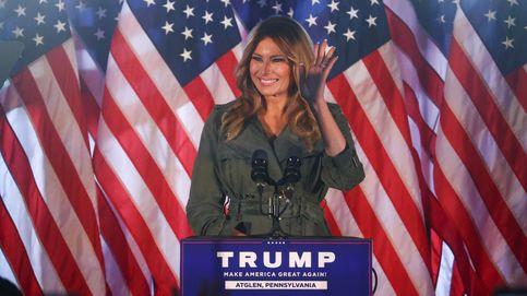 Melania Trump entra en campaña: el look militar sexy y glam para alentar a las 'tropas'
