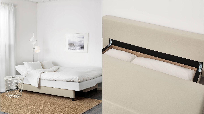 Sofá para salones pequeños de Ikea. (Cortesía)