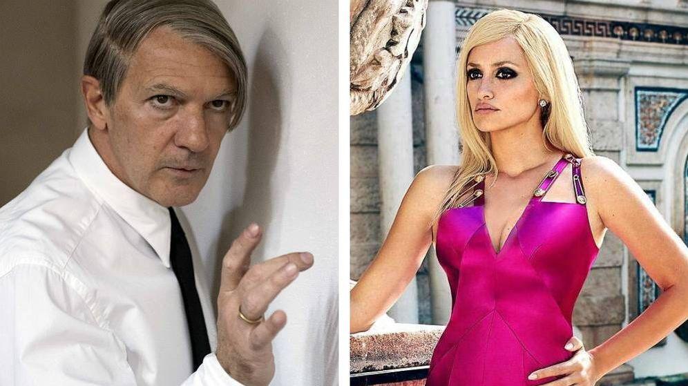 Foto: Antonio Banderas y Penélope Cruz caracterizados como Picasso y Donatella Versace.