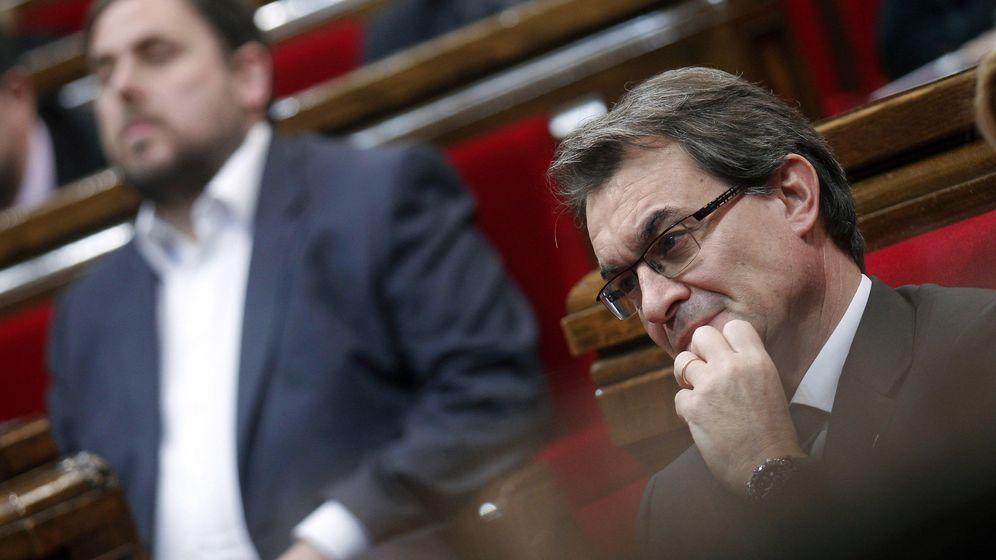 Foto: El expresident Artur Mas y el líder de ERC, Oriol Junqueras, en una imagen de archivo. (Efe)