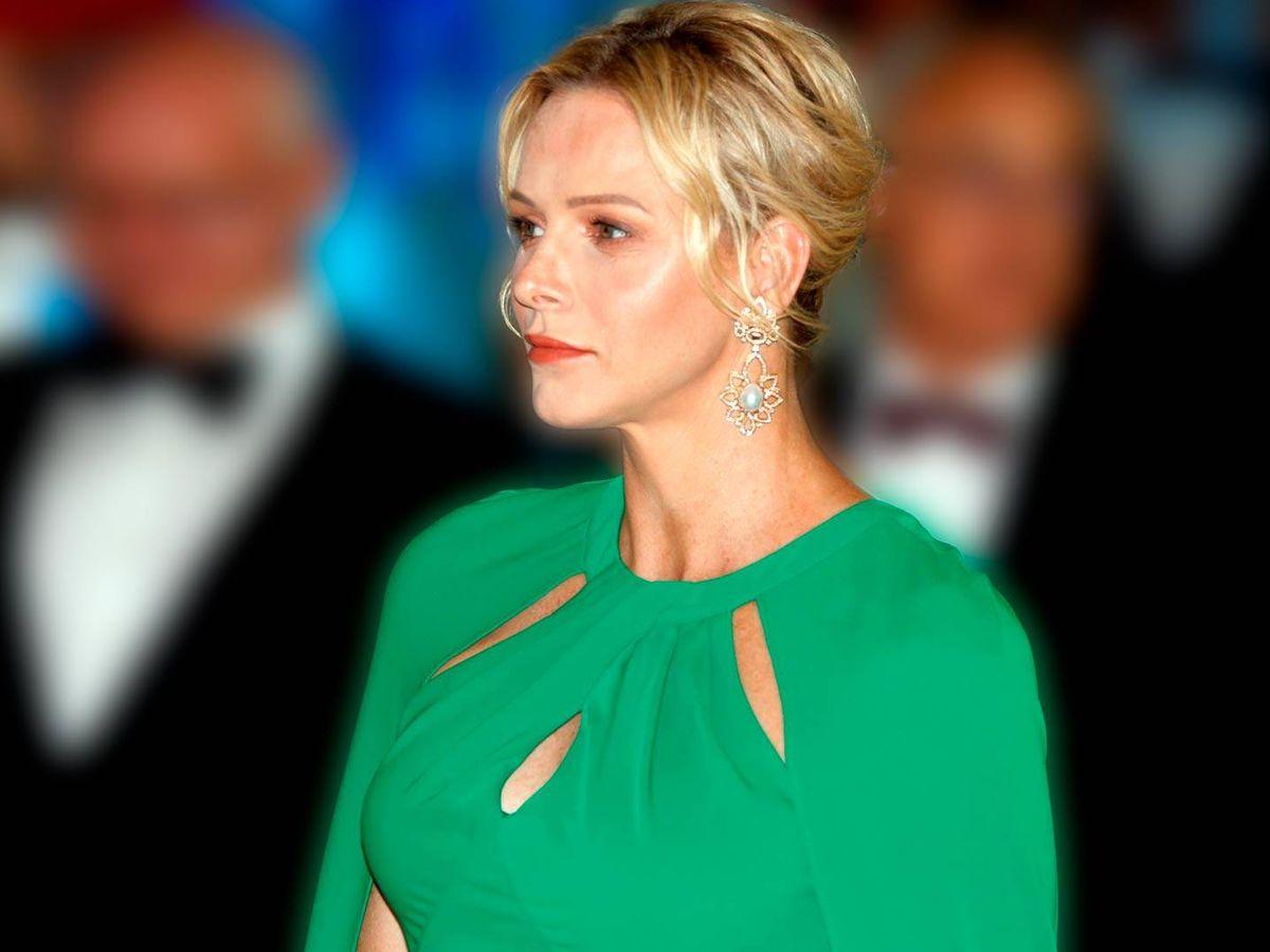 Foto: Las estratagemas de Charlène de Mónaco para dulcificar su rostro. (EFE)
