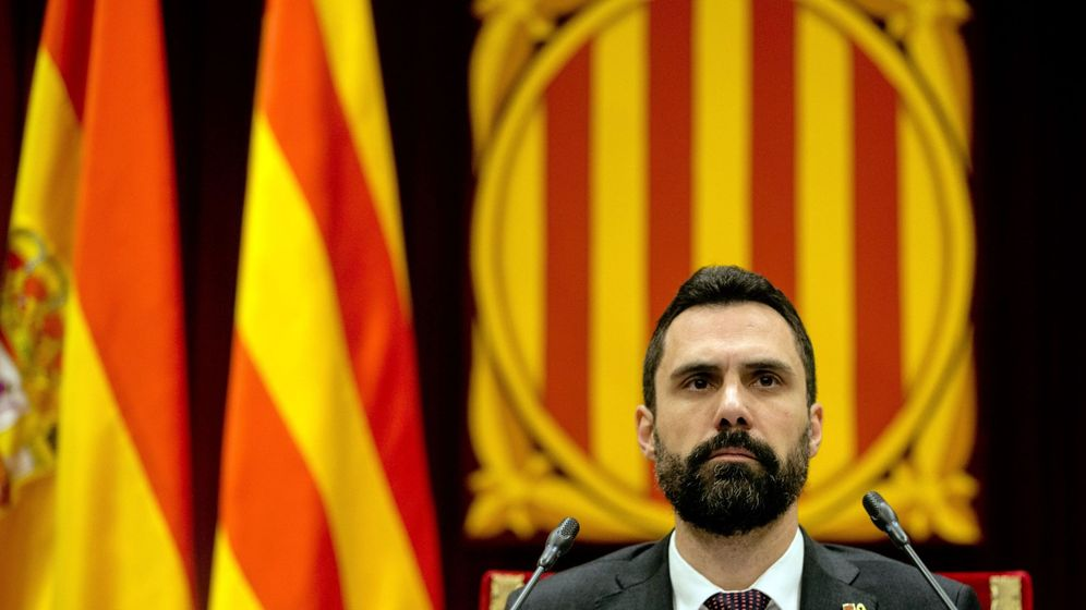 Foto: Roger Torrent, en el Parlament. (EFE)