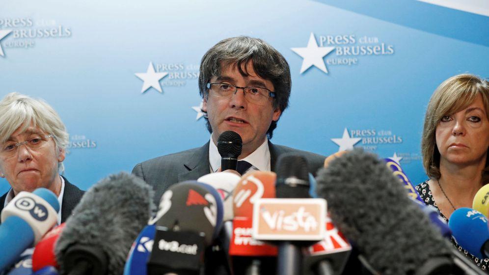 Foto: Carles Puigdemont en la última rueda de prensa en Bruselas. (Reuters)