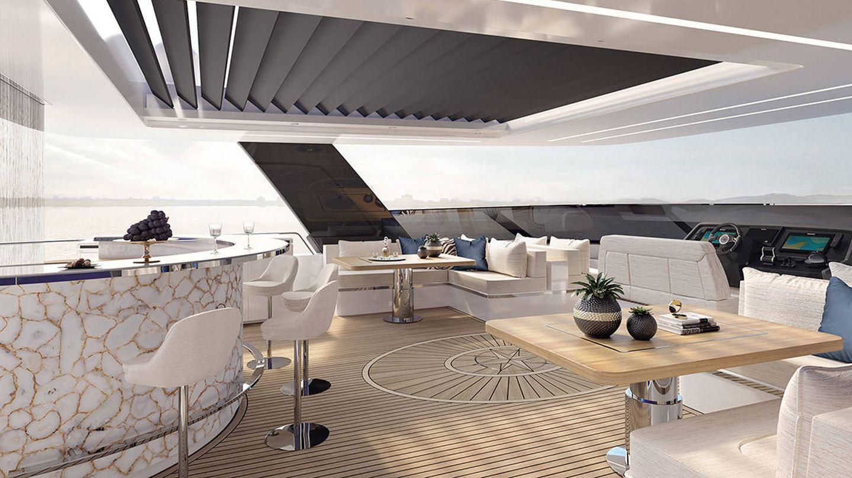 Vista de la proa del Sunreef Power 80. (Sunreef Yachts)