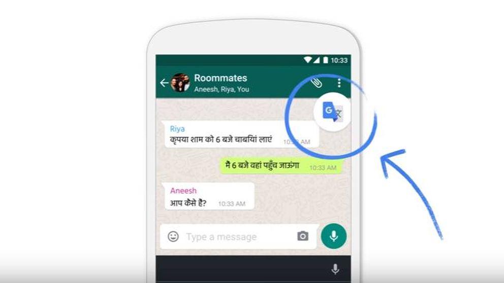 El traductor de Google se 'une' a WhatsApp con el 'Tap to Translate'