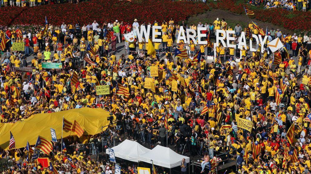 Foto: Concentración de la ANC y Òmnium Cultural el pasado mes de octubre. (Efe)