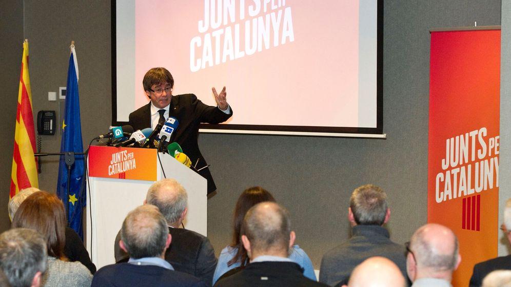 Foto: Presentación de la lista de JxCAT en Brujas. (EFE)